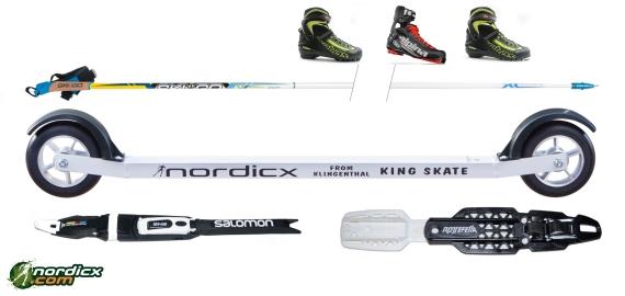 NORDICX Skiroller Set Skate Komplett