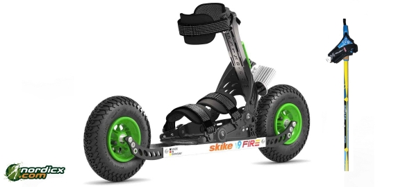 Bundle Skike V9 Fire 200 with SkiGo Roller50