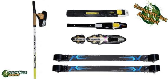 Rollerski Bundle with SkiGo XC Classic Carbon, binding and poles SkiGo Roller50