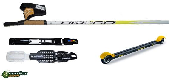 Skirollerset SRB SR04, Bindung und Stöcke SkiGo Roller50
