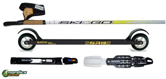 Rollerski Bundle SRB SR0, binding and poles SkiGo Roller50