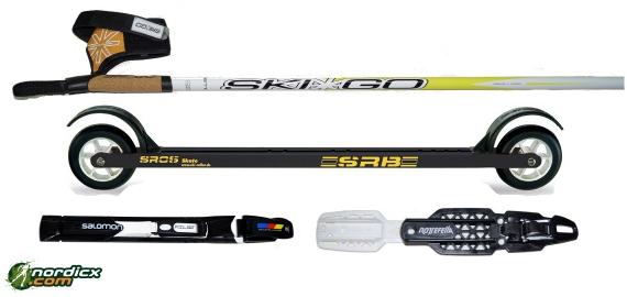 Skirollerset SRB SR05, Bindung und Stöcke SkiGo Roller50