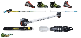 NORDICX Skiroller Set Klassik Komplett