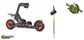 SKIKE V7 Plus Pro bundle and SKIGO Roller50 poles