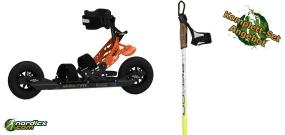SKIKE V7 Fix Set mit Stöcke SkiGo Roller50