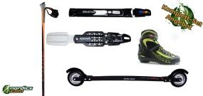 Rollerski Skate Bundle Professional (incl. rollerski, binding, poles & boots)