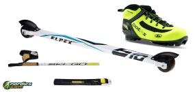 Skirollerset Klassik Fortgeschritten Komplett