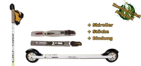 Rollerski Skate Starter bundle (incl. rollerskis, poles and binding)