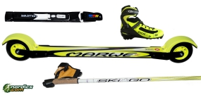 Skirollerkomplettset Skate Fortgeschritten Marwe (Skiroller, Bindung, Stöcke, Schuhe)