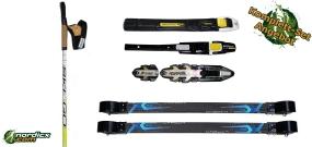 Skirollerset SkiGo XC Classic Carbon, Bindung und Stöcke SkiGo Roller50
