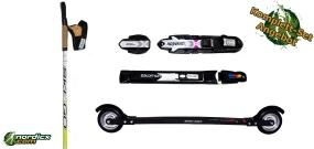 Rollerski Bundle SkiGo XC Skate Carbon, binding and poles SkiGo Roller50
