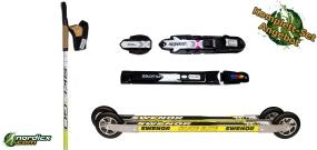 Skirollerset SweNor Skate Elite, Bindung und Stöcke SkiGo Roller50