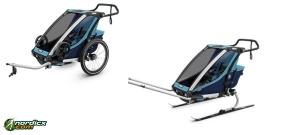 THULE Chariot Cross 1 Ski- und Fahrradanhänger