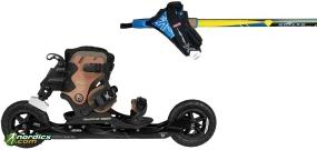 POWERSLIDE XC-Skeleton Trinity mit Stöcke SkiGo Roller50